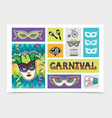 flat carnival festive elements set vector image