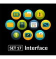 Flat icons set 17 - interface collection vector image