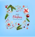 flat lay christmas card vector image vector image
