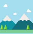 flat natural landscape vector image vector image
