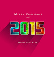 geometric effect 2015 year vector image vector image