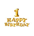 Happy birthday one first maiden top premier vector image