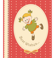 Happy kid greeting card vector image vector image