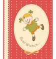 happy kid greeting card vector image vector image