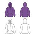 Hoodie sweater vector image vector image