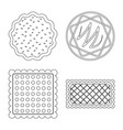 isolated object of biscuit and bake sign vector image
