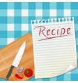 Kitchen recipe design background vector image