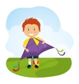 Kite and childhood design vector image