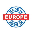 made in europe emblem flat vector image