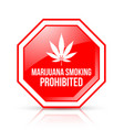 marijuana smoking prohibited icon on white vector image
