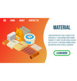 material concept banner isometric style vector image