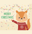 merry christmas celebration cute squirrel with vector image vector image