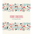 Merry Christmas vintage seamless pattern vector image vector image
