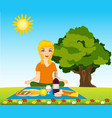 morning meal on nature vector image vector image
