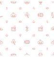 natural icons pattern seamless white background vector image vector image