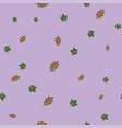 oak and maple leaf pattern seamless color vector image