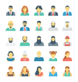 People Avatars Colored Icons 2 vector image
