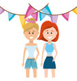 people party cartoons vector image