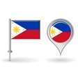Philippines pin icon and map pointer flag
