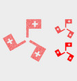 pixel medical flags icons vector image vector image