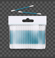realistic 3d detailed cotton buds package vector image vector image