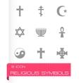 religious symbols icon set vector image vector image