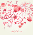 romantic greeting card Happy Valentines Day vector image vector image
