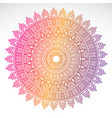 round gradient mandala on white isolated vector image