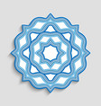 round mandala ornament with wavy lines vector image