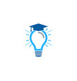 school idea logo icon design vector image vector image