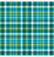 Seamless plaid pattern in dark green white and vector image vector image