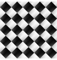 seamless square pattern background - monochrome vector image vector image