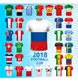 set of football jerseys for 2018 soccer vector image vector image