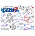space doodles collection vector image vector image