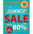 Summer sale banner with sea background vector image