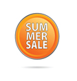 summer sale icon vector image vector image