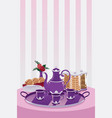 teapot and cup vector image