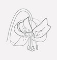 tiger lily icon line element vector image vector image