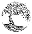 tree life on a white background vector image vector image