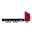truck cabin trailer transport wheels motor vector image vector image