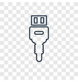 usb concept linear icon isolated on transparent vector image
