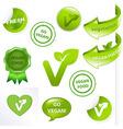 Vegan Elements Set vector image