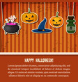 vintage halloween party festive template vector image vector image