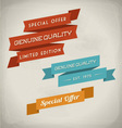 Vintage styled ribbons collection vector