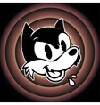 vintage toons retro cartoon character angry vector image