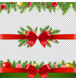 xmas garland set transparent background vector image