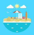 design concept of planning a summer vacation vector image