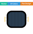 Flat design icon of Grill pan vector image