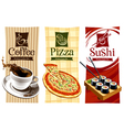 template designs of food banners vector image