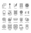ventilation equipment line icons air conditioning vector image
